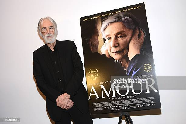 Director Michael Haneke attends the 10th annual Golden Globe foreign language film filmmaker photo op at Loyola Marymount University on January 12...