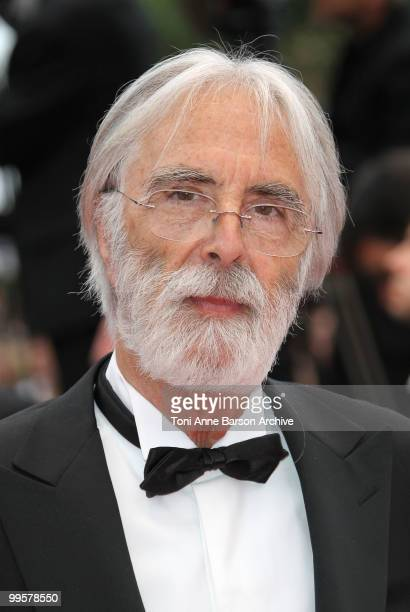 Director Michael Haneke attends the 'You Will Meet A Tall Dark Stranger' Premiere held at the Palais des Festivals during the 63rd Annual...