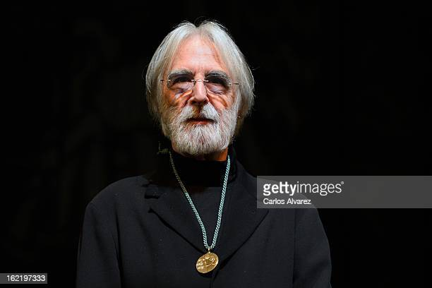 Director Michael Haneke recives 'Circulo de Bellas Artes' Golden Medal at Circulo de Bellas Artes cultural center on February 20 2013 in Madrid Spain
