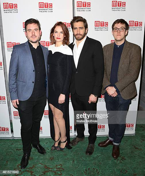 Director Michael Longhurst Ruth Wilson Jake Gyllenhaal and playwright Nick Payne attend the Broadway Opening Night Performance Curtain Call for The...