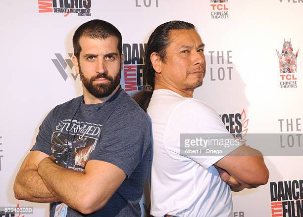 Director Michael Lynch and actor Gregory Cruz arrive for the 19th Annual Dances With Films Festival Premiere Of 'The Babymoon' held at TCL Chinese 6...