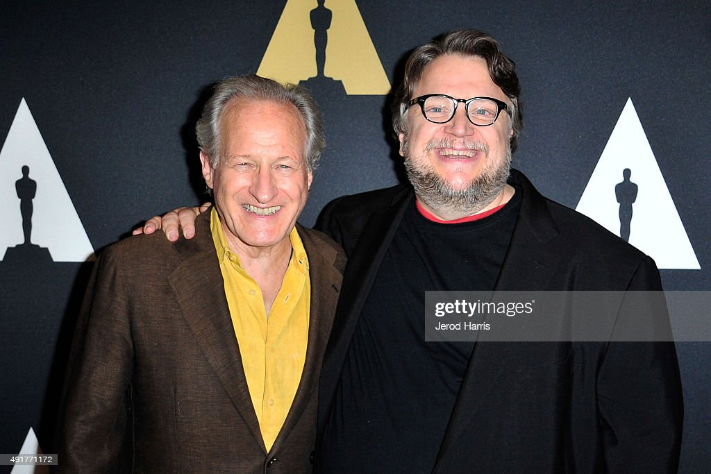 Director Michael Mann and director Guillermo Del Toro attend 'In The Labyrinth: A Conversation with Guillermo Del Toro' at Samuel Goldwyn Theater on October 7, 2015 in Beverly Hills, California.