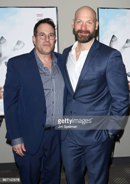 Director Michael Mayer and actor Corey Stoll attend the New York screening of The Seagull at Elinor Bunin Munroe Film Center on May 10 2018 in New...