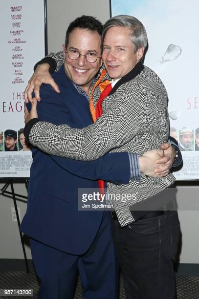 Director Michael Mayer and actor/directorJohn Cameron Mitchell attend the New York screening of The Seagull at Elinor Bunin Munroe Film Center on May...