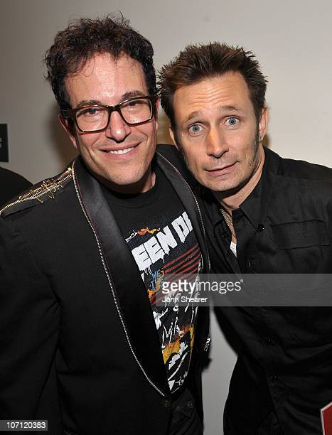 Director Michael Mayer and musician Mike Dirnt of Green Day attend the party for the World Premiere of American Idiot Hosted By Levi's at the Tony...
