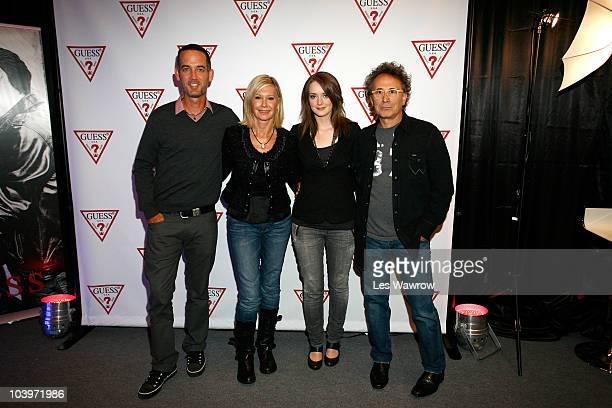 Director Michael McGowan Actress Olivia Newton John Actress Allie MacDonald and Actor Marc Jordan attend Guess Portrait Studio during the 2010...
