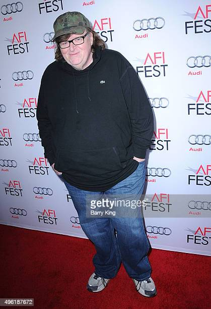 Director Michael Moore attends the AFI FEST 2015 Presented By Audi Centerpiece Gala Premiere Of Dog Eat Dog Films' 'Where To Invade Next' at the...