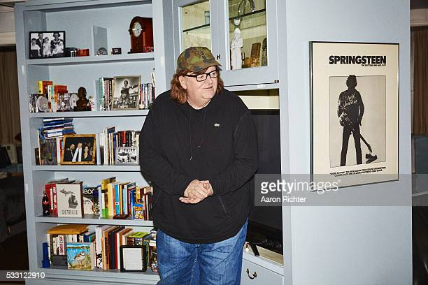 Director Michael Moore is photographed for The New York Times in 2015 in New York City