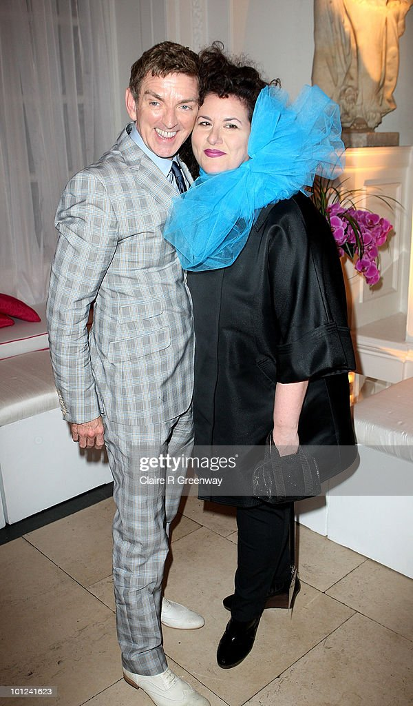 Director Michael Patrick King and stylist Adriana attend the after party following the UK premiere of 'Sex And The City 2' at The Orangery, Kensington Gardens on May 27, 2010 in London, England.