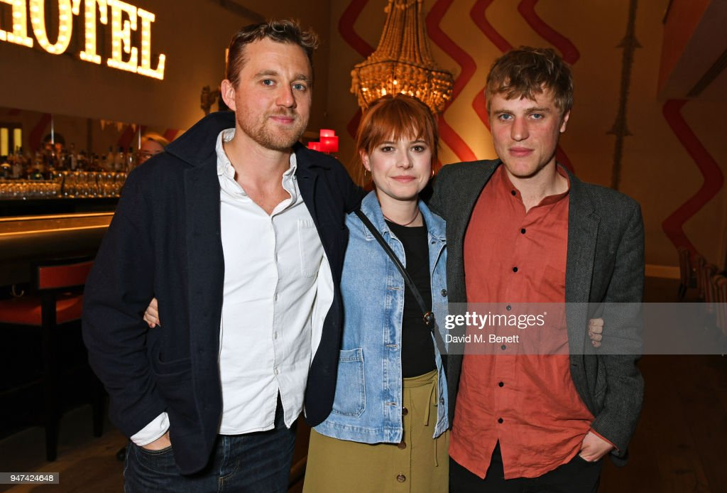 Director Michael Pearce, Jessie Buckley and Johnny Flynn attend a special preview screening of 'Beast' at the Ham Yard Hotel on April 16, 2018 in London, England.