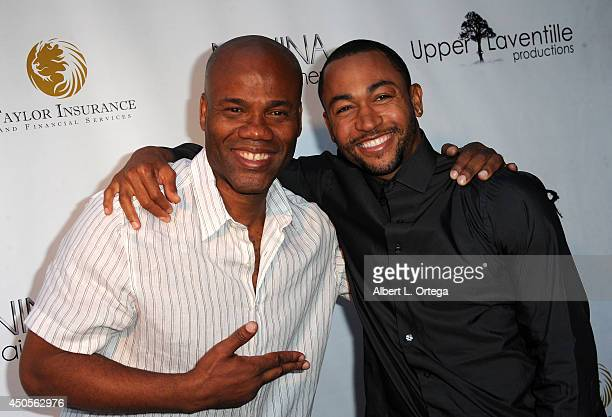 Director Michael Phillip Edwards and actor Percy Daggs III arrive for the Premiere Of Upper Laventille'sMurder 101 held at Raleigh Studios' Chaplin...