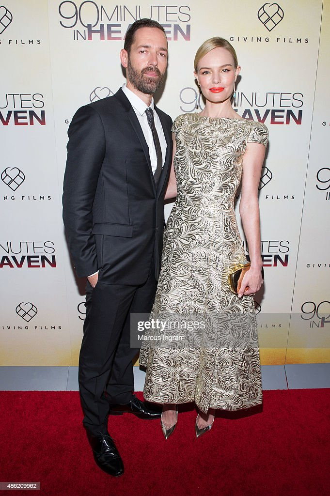 Director Michael Polish and actress Kate Bosworth attend '90 Minutes In Heaven' Atlanta premiere at Fox Theater on September 1, 2015 in Atlanta, Georgia.