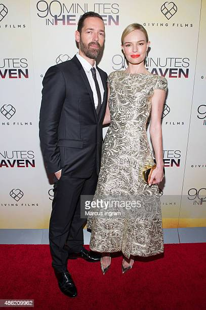 Director Michael Polish and actress Kate Bosworth attend '90 Minutes In Heaven' Atlanta premiere at Fox Theater on September 1 2015 in Atlanta Georgia