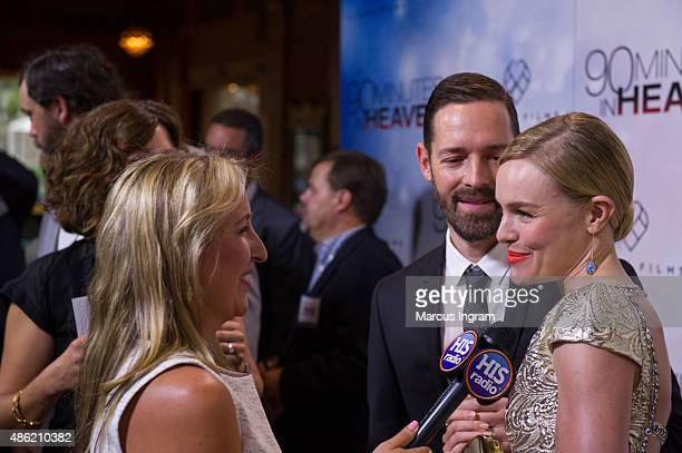 Director Michael Polish and actress Kate Bosworth attend '90 Minutes In Heaven' Atlanta premiere at Fox Theater on September 1, 2015 in Atlanta,...