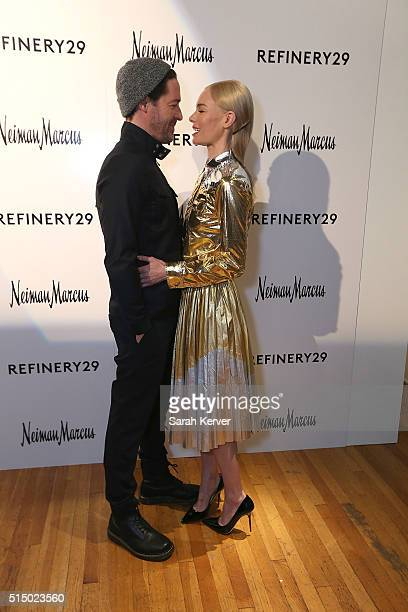 Director Michael Polish and Actress Kate Bosworth attend Refinery29's School of Self Expression opening night party presented by Neiman Marcus during...