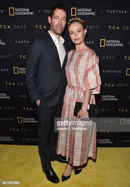 Director Michael Polish and actress Kate Bosworth attend the 2017 Summer TCA Tour National Geographic Party at The Waldorf Astoria Beverly Hills on...