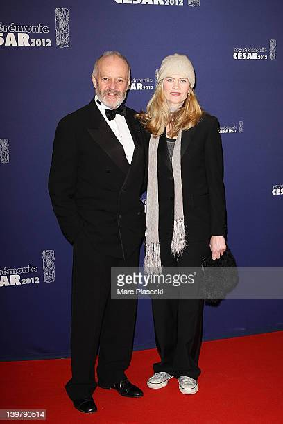 Director Michael Radford and wife Emma Tweed attend the 37th Cesar Film Awards at Theatre du Chatelet on February 24 2012 in Paris France