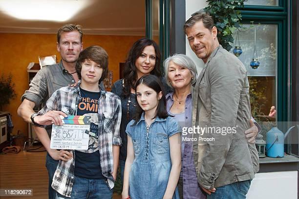 Director Michael Rowitz and actors Lukas Schust as Phillip, Simone Thomalla as Sofie Becker, Alea Sophia Boudodimos as Jenny, Jutta Wachowiak as Rosa...