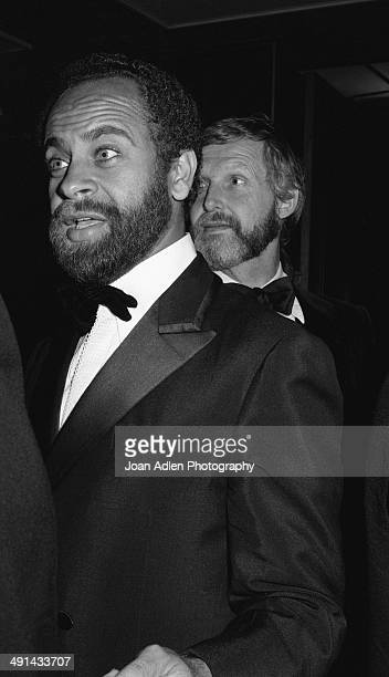 Director Michael Schultz and director Norman Jewison attend the Filmex black tie ball at the Century City Hotel after the movie premiere of...