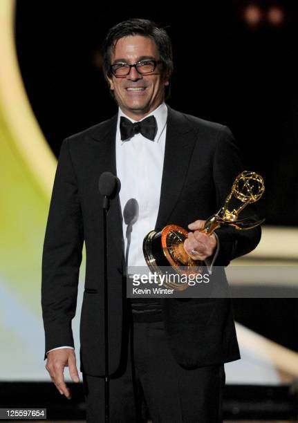 Director Michael Spiller accepts the Outstanding Directing for a Comedy Series award onstage during the 63rd Annual Primetime Emmy Awards held at...