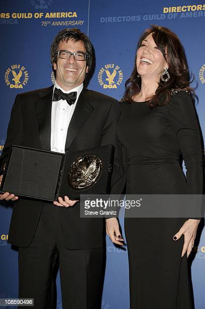 Director Michael Spiller and actress Katey Sagal pose in the press room during the 63rd Annual DGA Awards held at the Grand Ballroom at Hollywood...