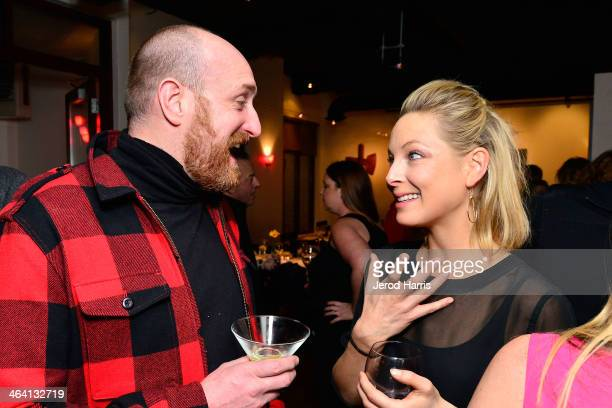 Director Michael Sucsy and actress Anastasia Griffith attend the IMDb Sundance dinner party at the Mustang on January 20 2014 in Park City Utah
