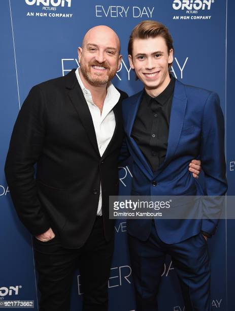 Director Michael Sucsy and Owen Teague attend the Every Day New York Screening at Metrograph on February 20 2018 in New York City