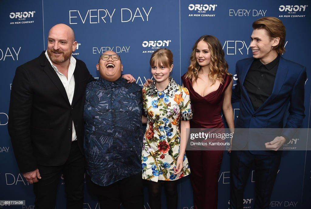Director Michael Sucsy, Jacob Batalon, Angourie Rice, Debby Ryan and Owen Teague attend the 'Every Day' New York Screening at Metrograph on February 20, 2018 in New York City.