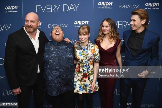 Director Michael Sucsy Jacob Batalon Angourie Rice Debby Ryan and Owen Teague attend the Every Day New York Screening at Metrograph on February 20...