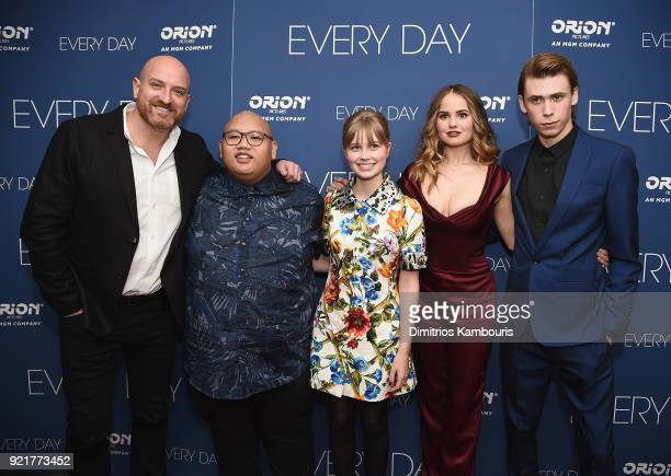 Director Michael Sucsy Jacob Batalon Angourie Rice Debby Ryan and Owen Teague attend the 'Every Day' New York Screening at Metrograph on February 20...