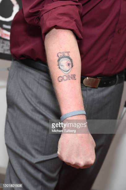 Director Michael Thomas Daniel tattoo detail attends the premiere of Get Gone at Arena Cinelounge on January 24 2020 in Hollywood California