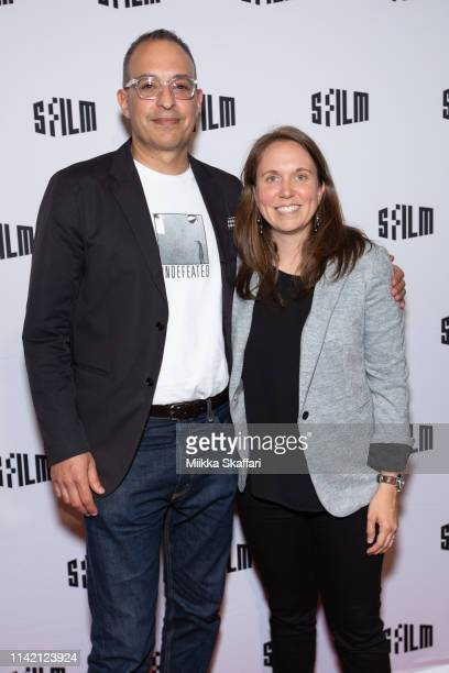 Director Michael Tolajian and producer Rebekah Fergusson arrive at World Premiere screening of Q Ball at SF International Film Festival at Castro...