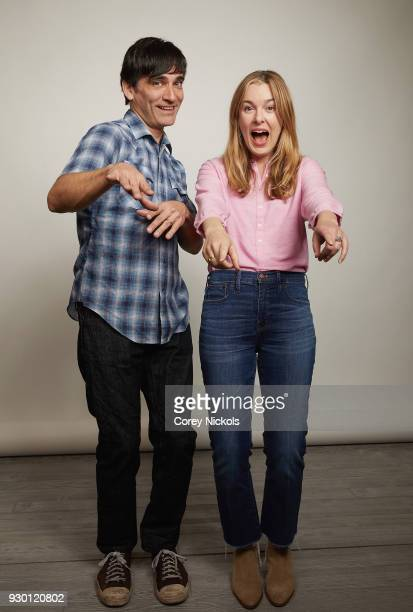 Director Michael Tully and Actor Anna Margaret Hollyman from the film 'Don't Leave Home' poses for a portrait in the Getty Images Portrait Studio...