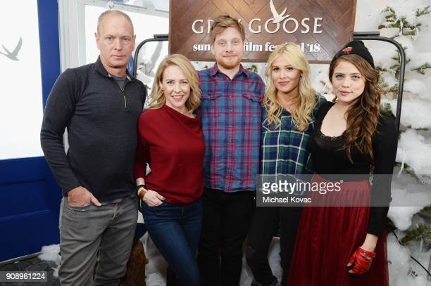 Director Michael Walker Amy Hargreaves Josh Caras Olivia Luccardi and Comfort Clinton of 'Paint' attend as Grey Goose Blue Door hosts the casts of...