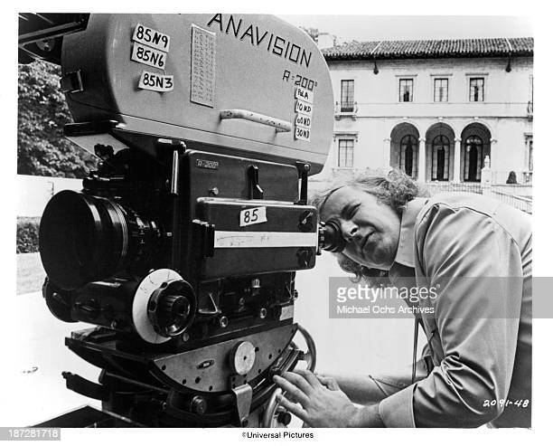Director Michael Winner on set of the Universal Studio movieThe Sentinel in 1977