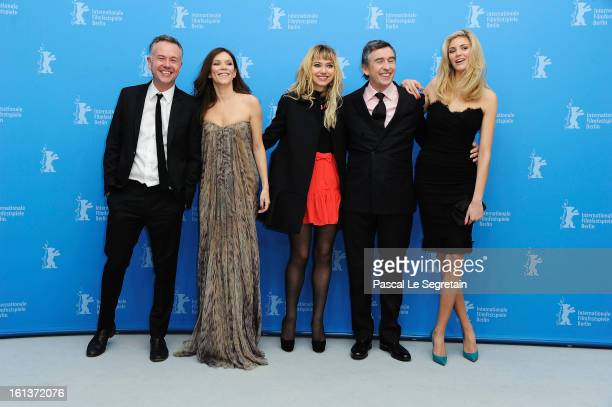 Director Michael Winterbottom and actors Anna Friel Imogen Poots Steve Coogan and Tamsin Egerton attend 'The Look Of Love' Photocall during the 63rd...