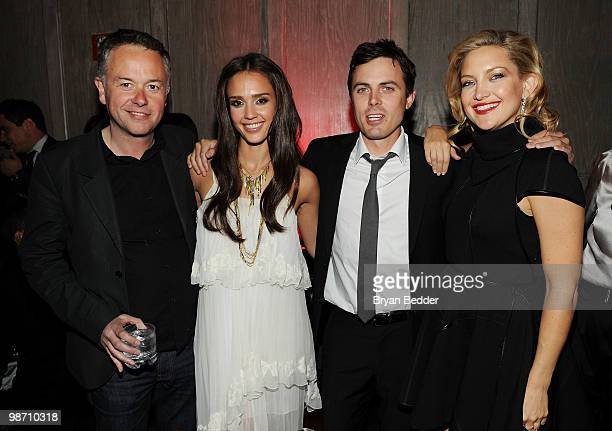 Director Michael Winterbottom with actors Jessica Alba Casey Affleck and Kate Hudson attend The Killer Inside Me after party during the 2010 Tribeca...