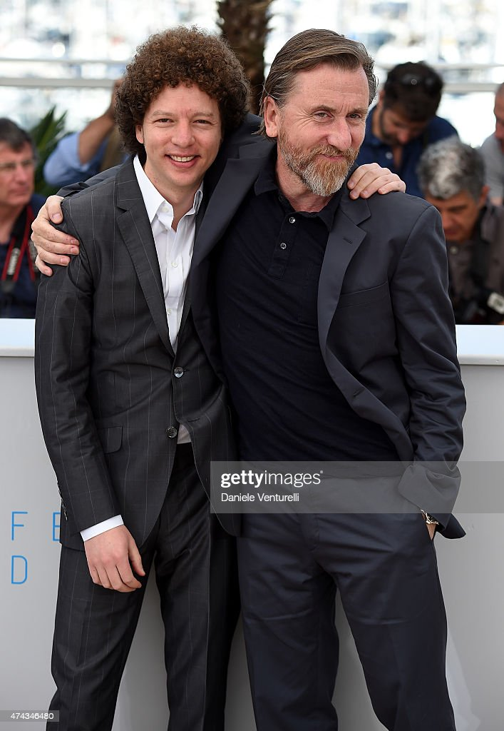 Director Michel Franco (L) and actor Tim Roth attend the 'Chronic' Photocall during the 68th annual Cannes Film Festival on May 22, 2015 in Cannes, France.