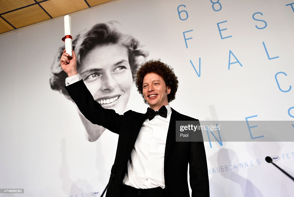 Director Michel Franco winner of the Best Screenplay Prize for his film 'Chronic' poses during the Palm D'Or Winners press conference during the 68th annual Cannes Film Festival on May 24, 2015 in Cannes, France.