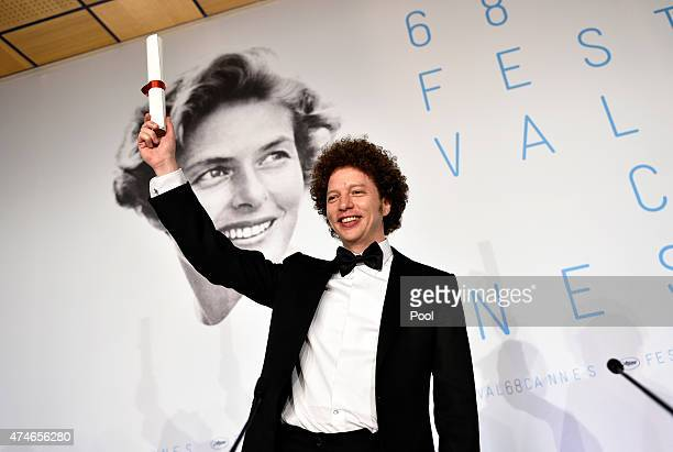 Director Michel Franco winner of the Best Screenplay Prize for his film 'Chronic' poses during the Palm D'Or Winners press conference during the 68th...