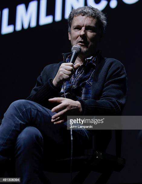 Director Michel Gondry attends 'Microbe Gasoline' QA during 53rd New York Film Festival at Alice Tully Hall Lincoln Center on October 4 2015 in New...