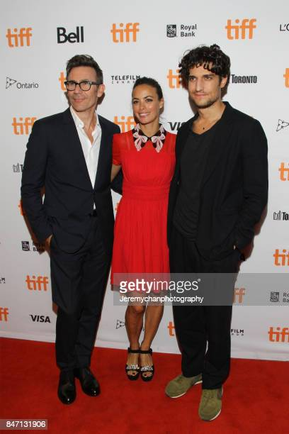 Director Michel Hazanavicius actor Berenice Bejo and actor attend Louis Garrel the 'Redoubtable' Premiere held at The Elgin during the 2017 Toronto...