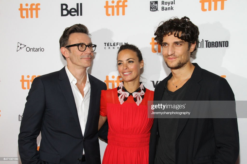 Director Michel Hazanavicius, actor Berenice Bejo, and actor attend Louis Garrel the 'Redoubtable' Premiere held at The Elgin during the 2017 Toronto International Film Festival on September 14, 2017 in Toronto, Canada.