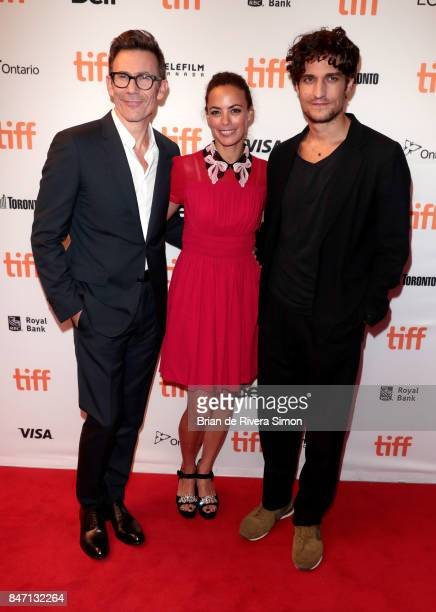 Director Michel Hazanavicius actors Berenice Bejo and Louis Garrel attend the 'Redoubtable' premiere during the 2017 Toronto International Film...
