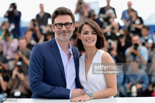 """Director Michel Hazanavicius and actress Berenice Bejo attend """"The Search"""" photocall at the 67th Annual Cannes Film Festival on May 21, 2014 in..."""