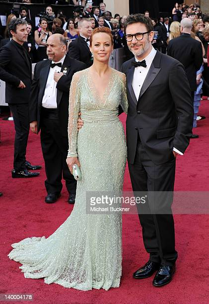 Director Michel Hazanavicius and actress/wife Berenice Bejo arrive at the 84th Annual Academy Awards held at the Hollywood Highland Center on...