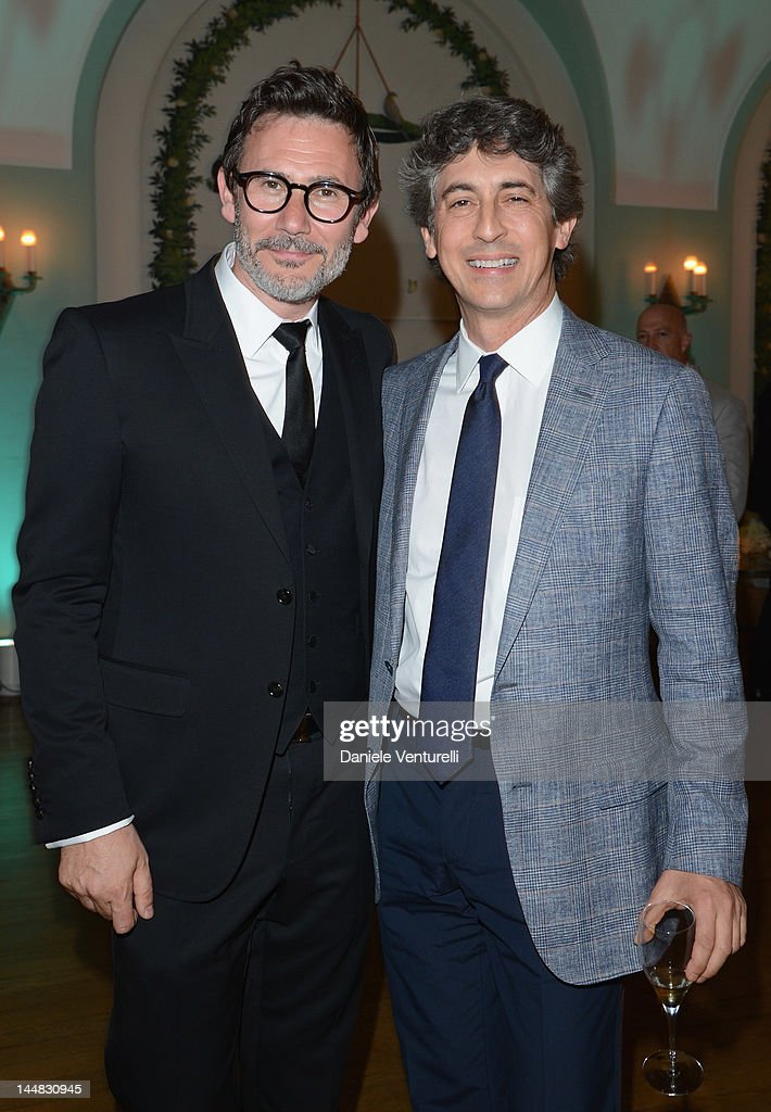 Director Michel Hazanavicius and Alexander Payne attend the Vanity Fair and Gucci Party at Hotel Du Cap during 65th Annual Cannes Film Festival on May 19, 2012 in Antibes, France.
