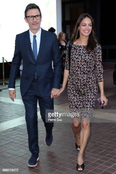 Director Michel Hazanavicius and his wife Actress Berenice Bejot are spotted at the Majestic Hotel during the 70th annual Cannes Film Festival at on...