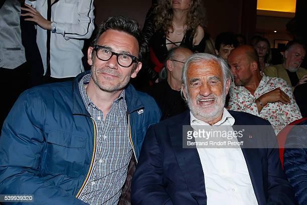 Director Michel Hazanavicius and Sponsor of the school 'L'Entree des Artistes' JeanPaulBelmondo attend the 2016 Public performance of Comedians...