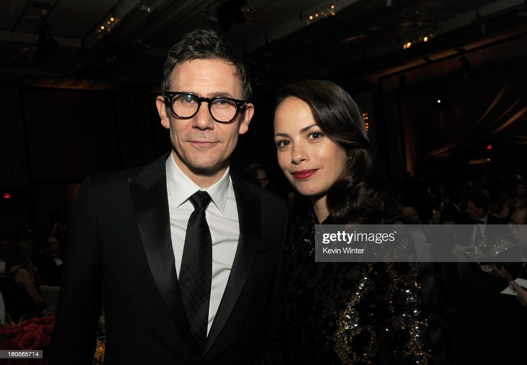 Director Michel Hazanavicius and wife actress Berenice Bejo attend the 65th Annual Directors Guild Of America Awards at Ray Dolby Ballroom at Hollywood & Highland on February 2, 2013 in Los Angeles, California.